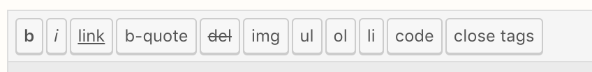 Post formatting buttons