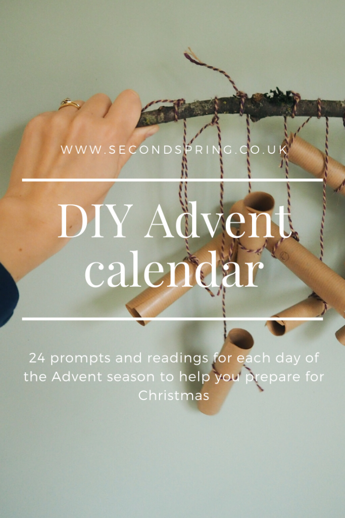 DIY Advent calendar with daily Bible readings and prompts